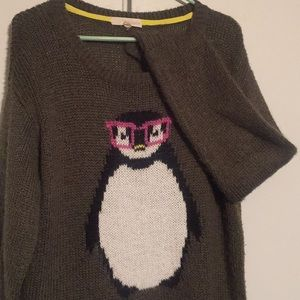 Nerdy Penguin Sweater by Rewind